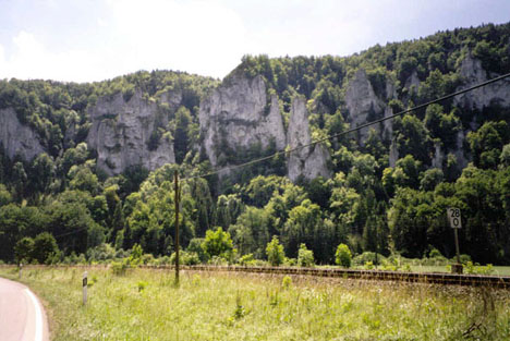 Cliff above Sigmaringen