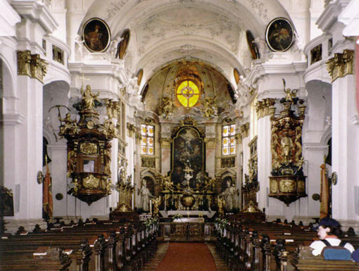 Inside Durnstein Church