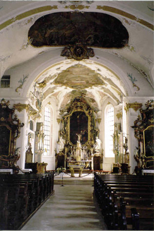 Inside Sigmaringen Church