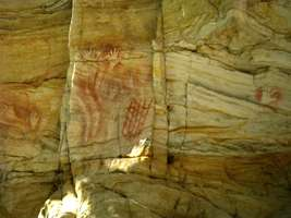 Cathedral Cave hand boomerang stencils net