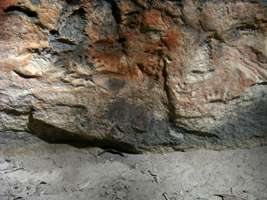 Cathedral Cave engravings - hands and kangaroo prints