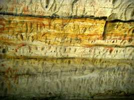 Carnarvon Gorge artwork engravings degraded