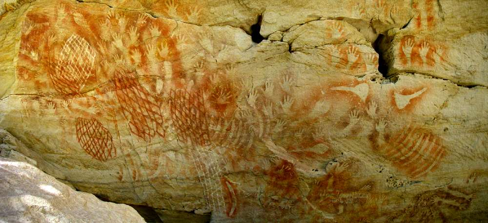 Carnarvon Gorge artwork panorama