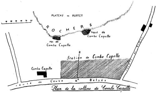 Plan de la colline de Combe-Capelle