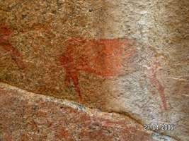 Namibia rock painting