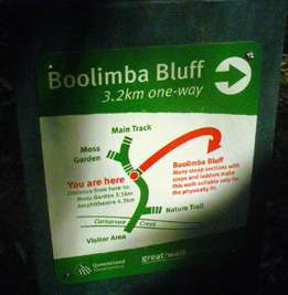 Boolimba Bluff sign
