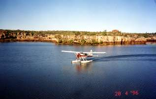Plane on river