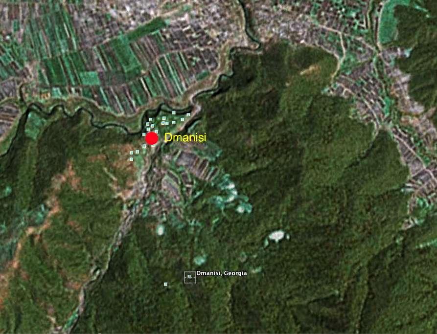Dmanisi Georgia Map.Homo Erectus The Dmanisi Site