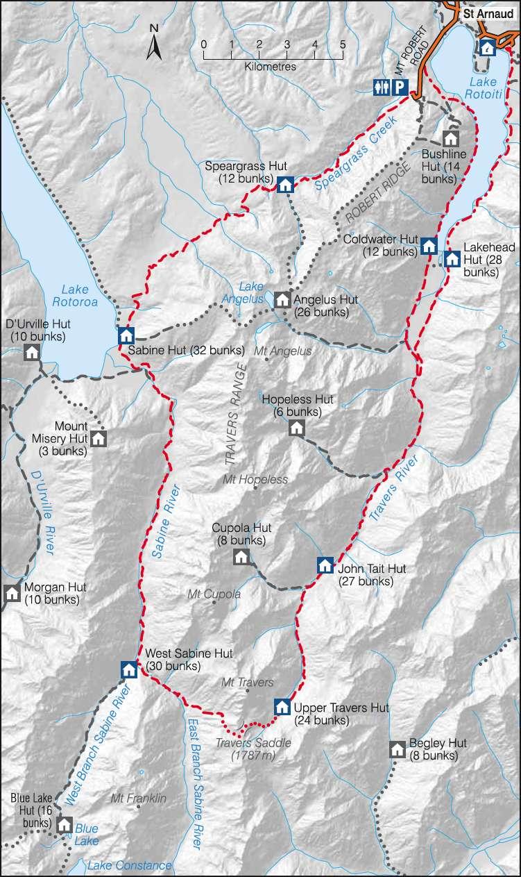 The Travers Sabine Circuit in New Zealand  Blue Lake to Lake Rotoroa
