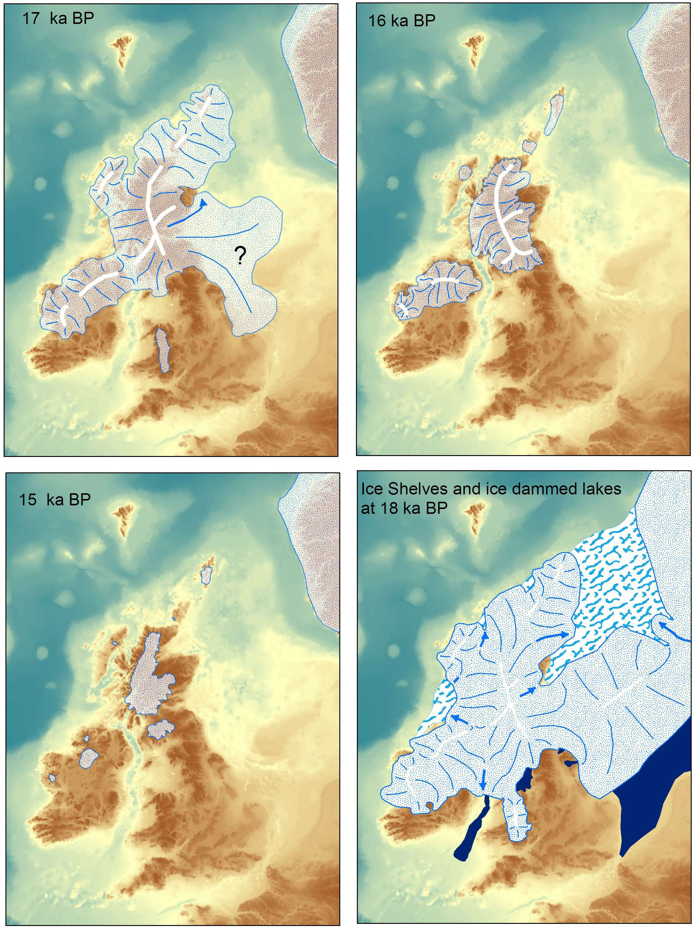 Ice Age Maps Showing The Extent Of The Ice Sheets - Map of how last ice age affected us