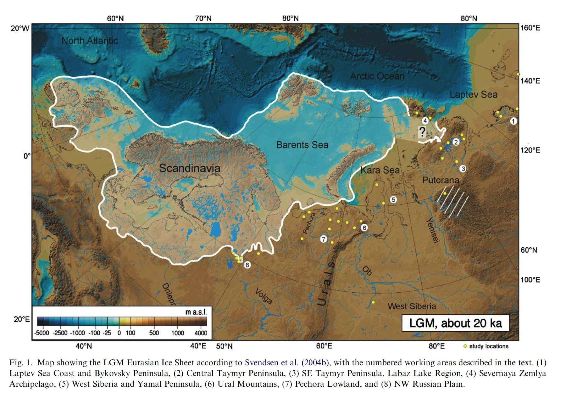 europe ice sheet lgm map showing the last glacial