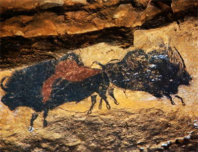 Lascaux crossed  bison