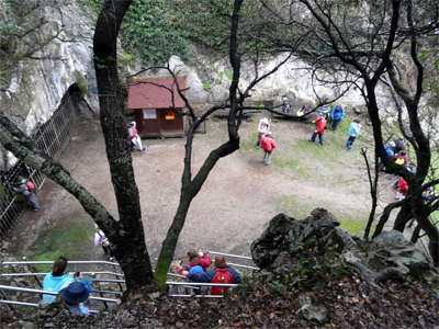 Cueva del Pindal from top of staircase