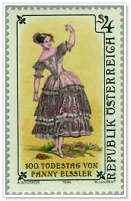 Fanny on a stamp