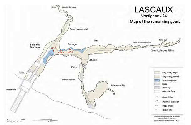 Lascaux map of gours