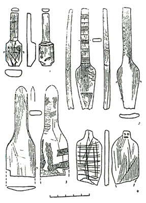 decorated objects  from Mezin