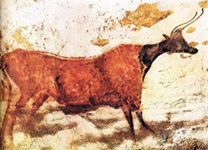 Red cow, black head, Lascaux