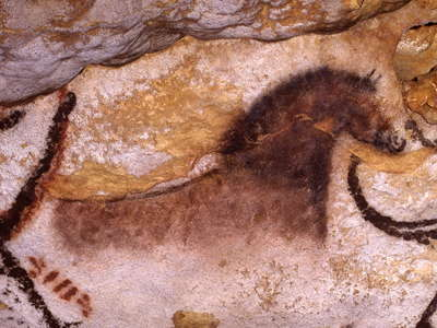 Lascaux crossed  bison detail