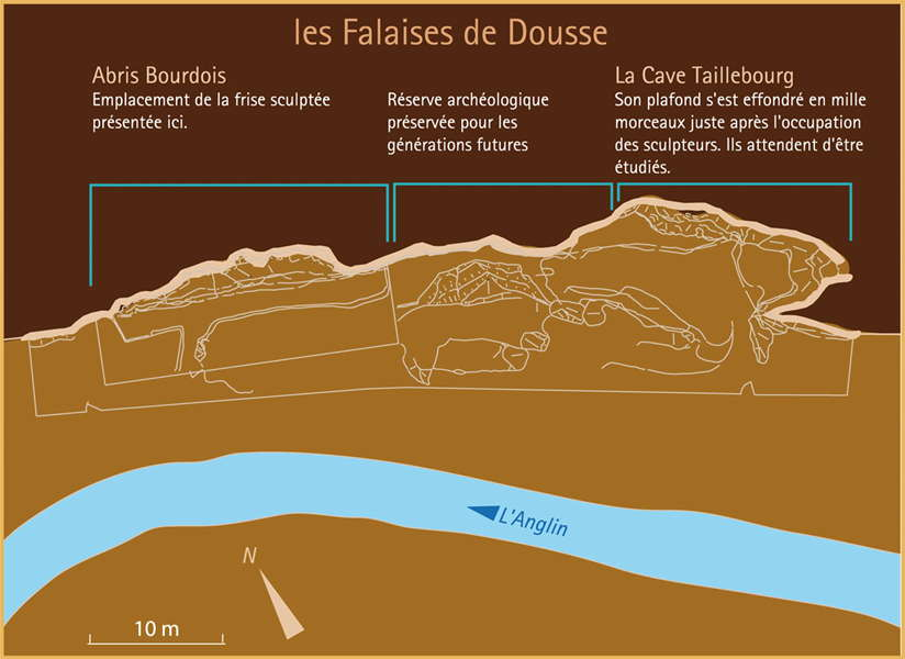 Dousse falaises map