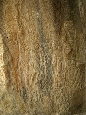 dance scene with animals, Gobustan, Azerbaijan