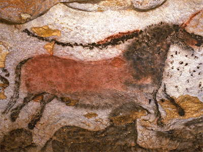 Horse with tail, Lascaux