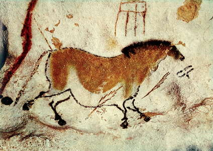 lascaux horse and sign