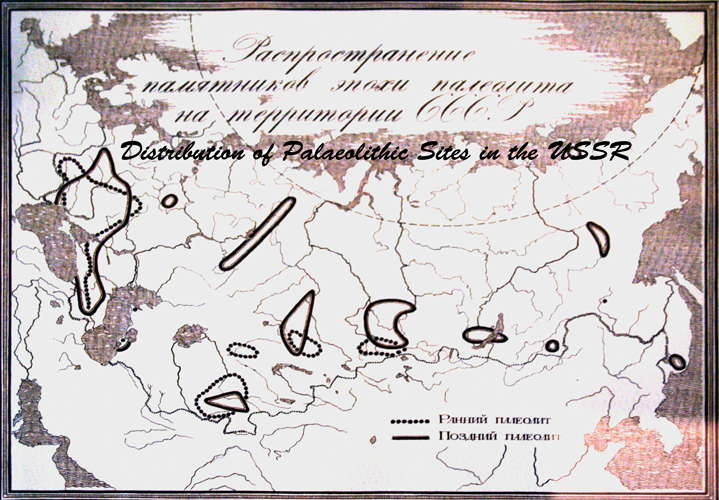 Distribution of Palaeolithic Sites in the USSR