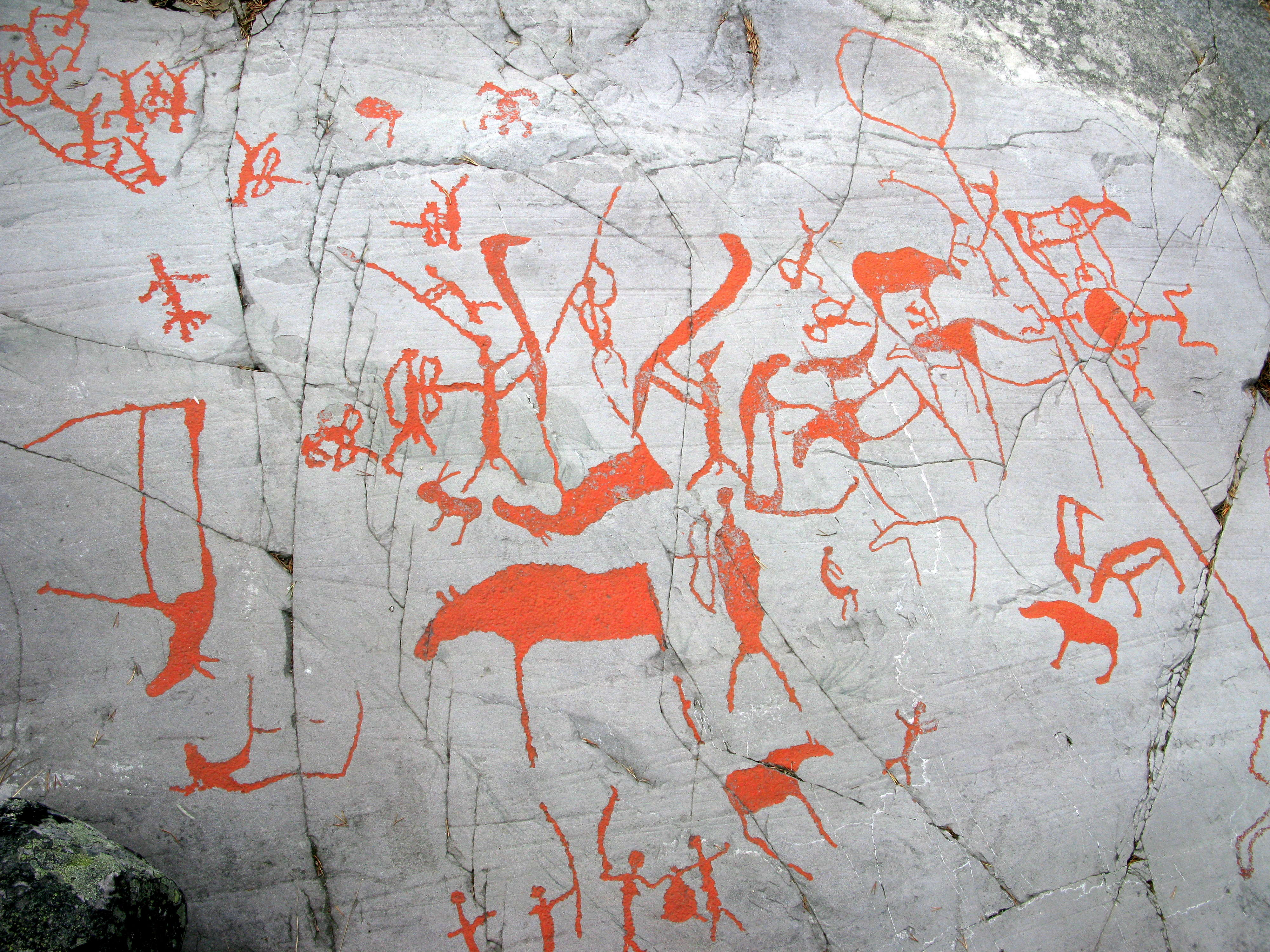 виды наскальной живописи: