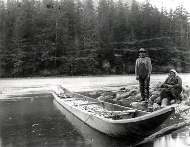 bella coola river canoe