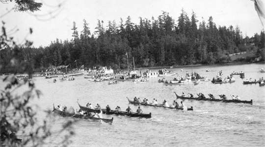 War canoe race
