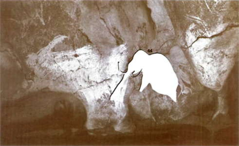 photo of the cave wall