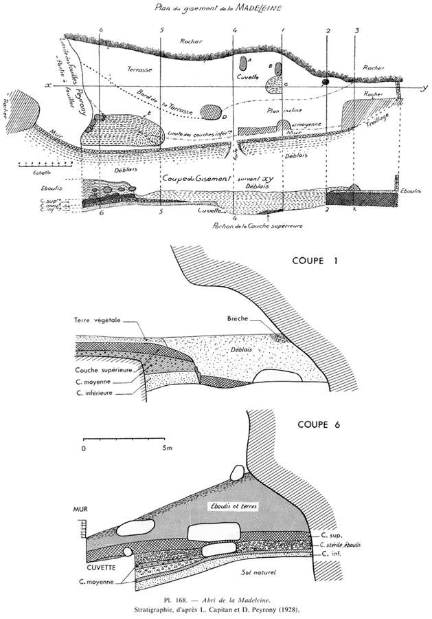 plan of la Madeleine excavations
