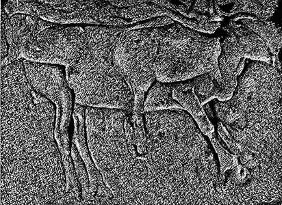 Isturitz bas relief  cast deer