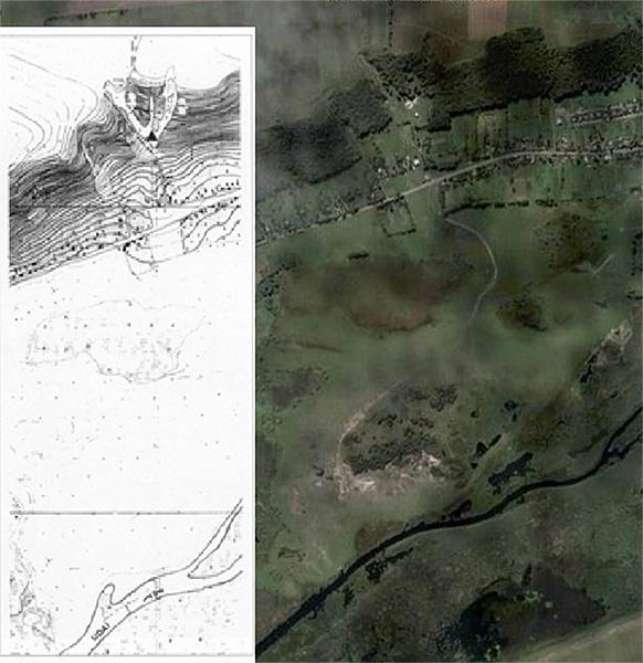 Topo and google earth of Gontsky
