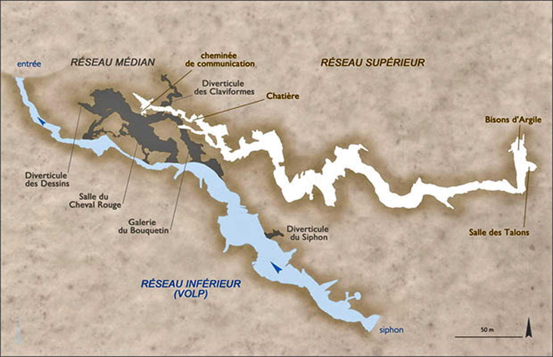 tuc d audoubert the map