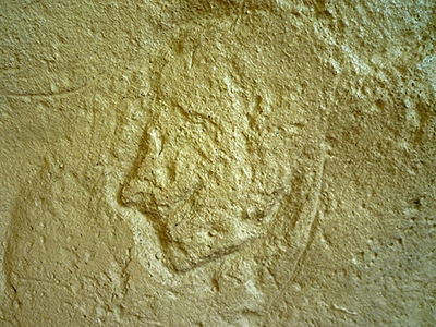 carved stone human profile