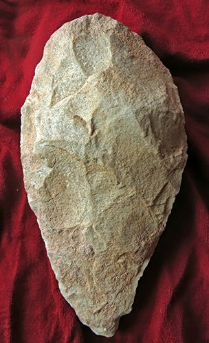 Acheulian handaxe from North Africa