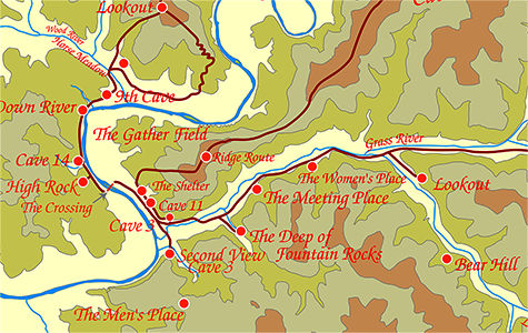 Vezere valley map