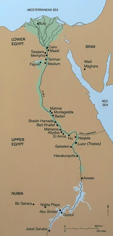 Ancient Egyptian Culture From The St Dynasty To The End Of The - Map of egypt 500 bc
