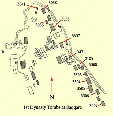 First Dynasty saqqara plan