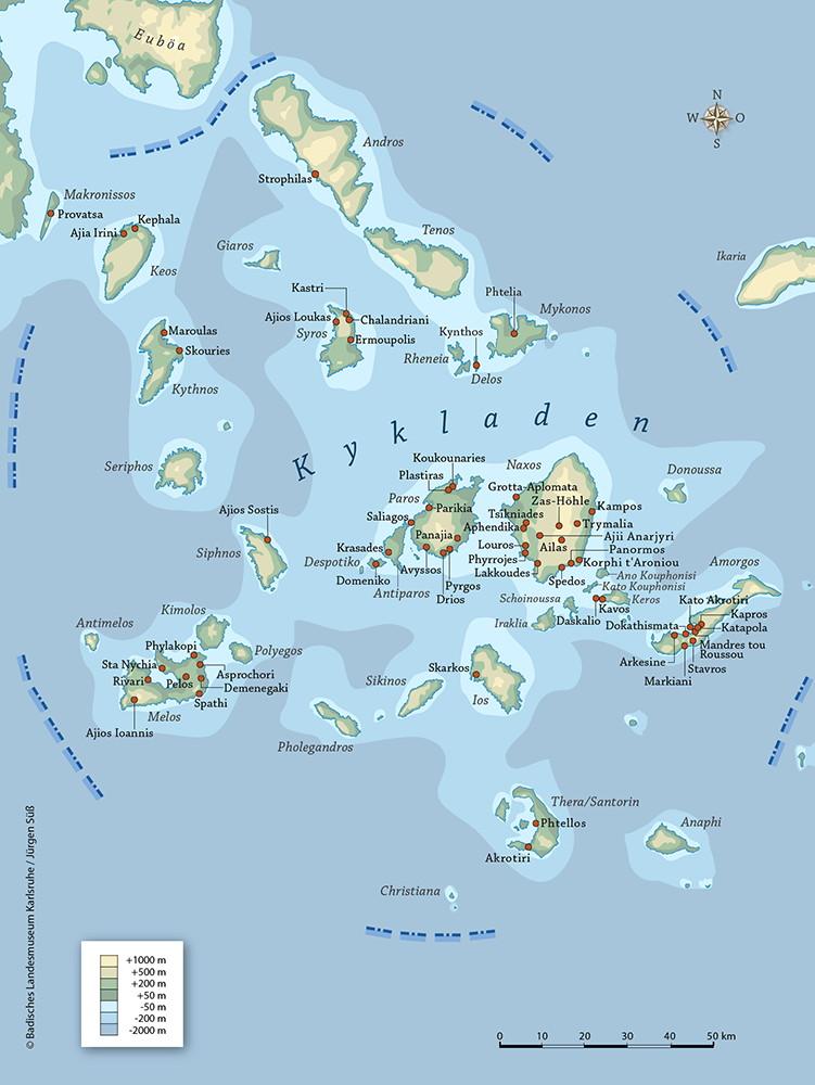 Carte Crete Cyclades.Cyclades Art