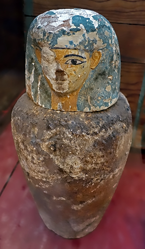 Canopic jars of  Gua