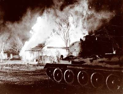 T-34 Tank in the battle of Kursk 1943