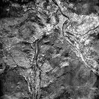 aerial map Niaux